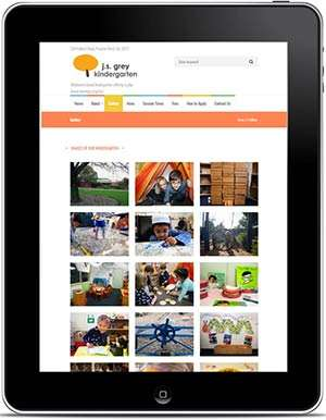J.S Grey Kindergarten website, design and Wordpress website build by Birdhouse Digital.