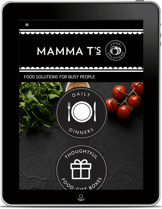 Mamma T's Food Solutions Website. Design And Wordpress Build By Birdhouse Digital.