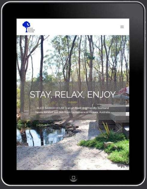 Alice Barker House Website, Design And Wordpress Build By Birdhouse Digital