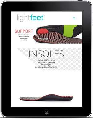 Lightfeet website, design and Wordpress build by Birdhouse Digital