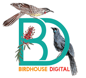 Birdhouse Digital logo: Christmas 2018. Wordpress website design and development